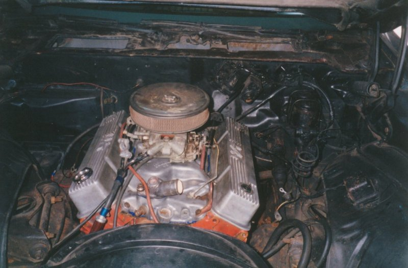 Old motor with car when purchased